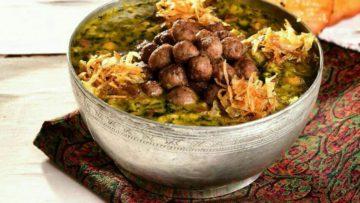 آش گندم برنج عدس گوشت کم چرب شلغم پیاز اصفهان