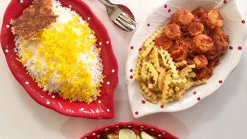 دو پیازه میگو خوزستان میگو پاک شده رب گوجه فرنگی پیاز بزرگ نمک فلفل ادویه زردچوبه