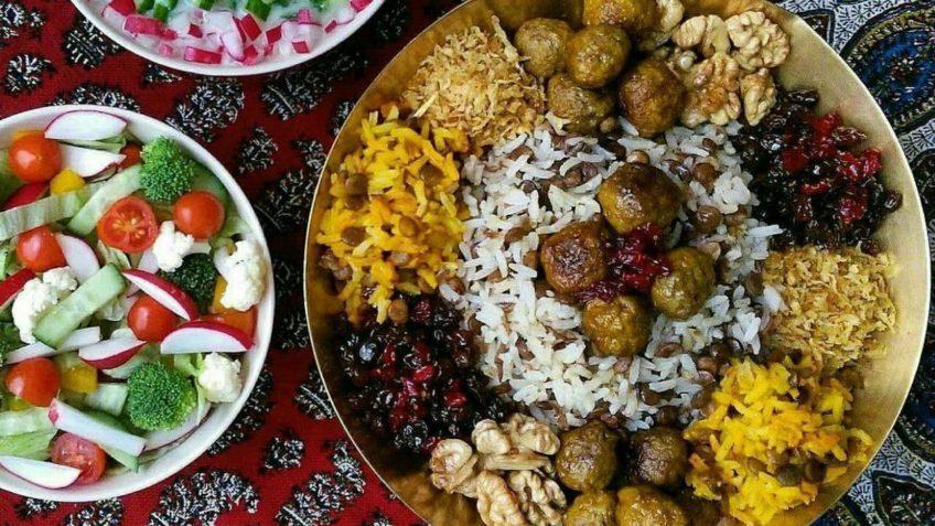 عدس پلو خراسان جنوبی عدس برنج سینه مرغ گوشت چرخ کرده