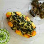 والک پلو برنج سبزی والک سیب زمینی روغن فلفل تهران