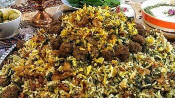 یلدا کلم پلو شیرازی برنج شوید تره مرزه ترخون ریحان گوشت چرخ کرده کلم قمری آرد نخود چی تخم مرغ پیاز زردچوبه شیراز فارس