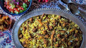 کلم پلو شیرازی شیراز غذالند سرزمین غذا