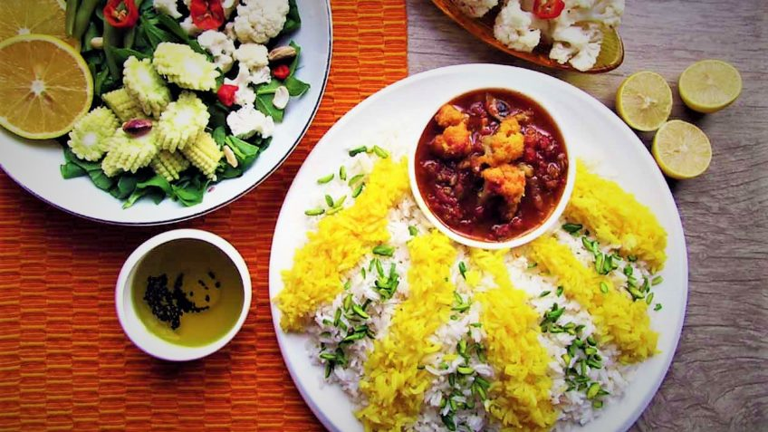 خورش گل کلم اصفهان غذالند سرزمین غذا