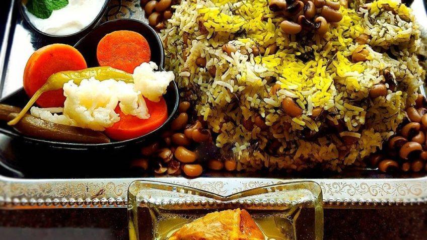 چشم بلبلی پلو زنجان برنج
