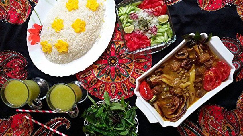 قیمه بادمجان با عدس و کلم غذالند فارس شیراز بادمجان