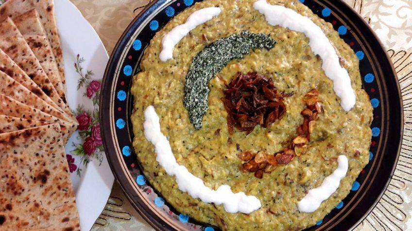 حلیم کشک بادمجان فارس شیراز غذالند بادمجان