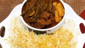 بامیه و گوشت کردستان غذالند