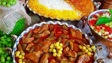 خورش بامیه و گوشت خوزستان غذالند سرزمین غذا