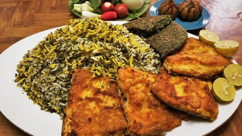 سبزی پلو با ماهی عید نوروز غذالند