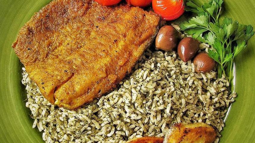 سبزی پلو با ماهی - غذالند