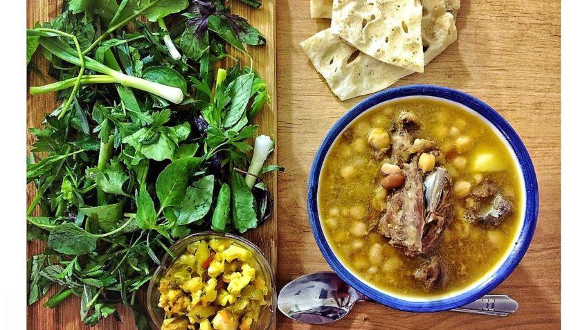 آبگوشت لیمو عمانی عید نوروز غذالند همدان