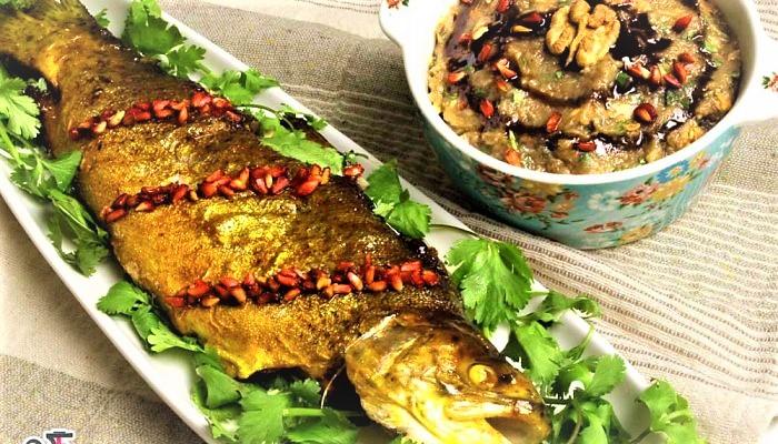 ماهی شکم پر مازندران عید نوروز غذالند