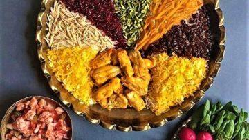 مرصع پلو جواهر پلو خراسان رضوی شیراز سرزمین غذا غذالند