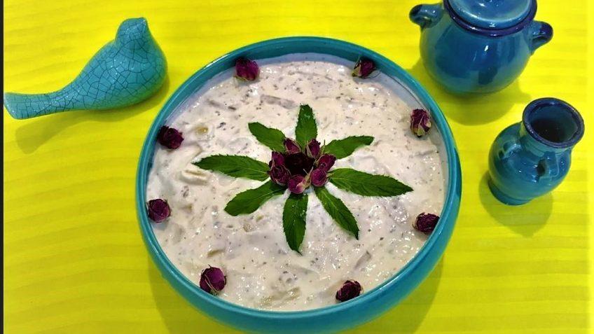 بورانی کنگر کنگر ماست لرستان شیراز سرزمین غذا غذالند