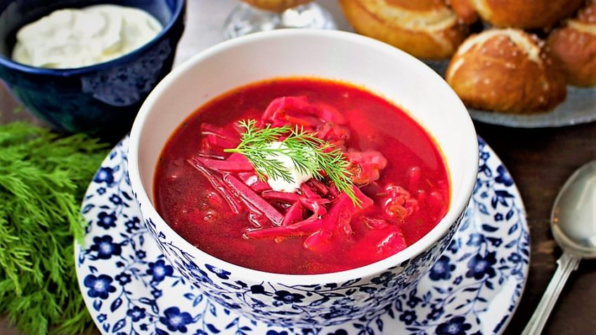 سوپ برش روسیه سرزمین غذا غذالند