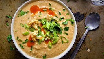 سوپ گل کلم فرانسه غذالند سرزمین غذا
