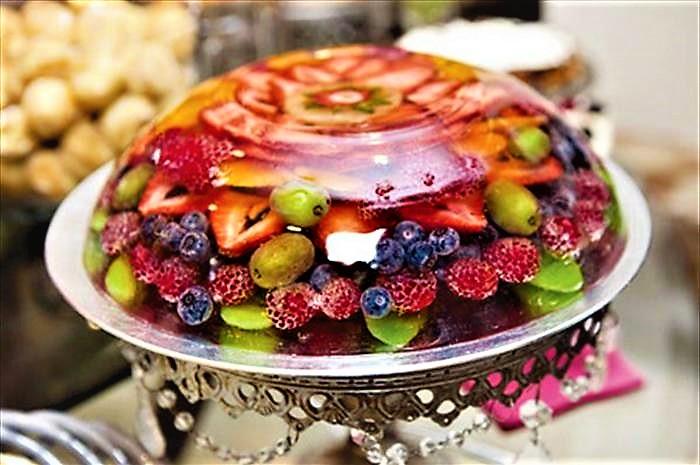 ژله ویترینی میوه ایران غذالند سرزمین غذا