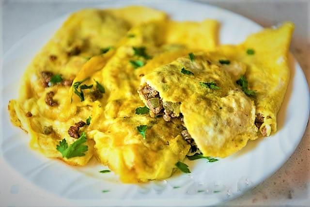املت گوشت و تخم مرغ مراکش غذالند سرزمین غذا