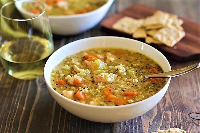 سوپ مرغ و برنج قهوه ای ایران سرزمین غذا غذالند
