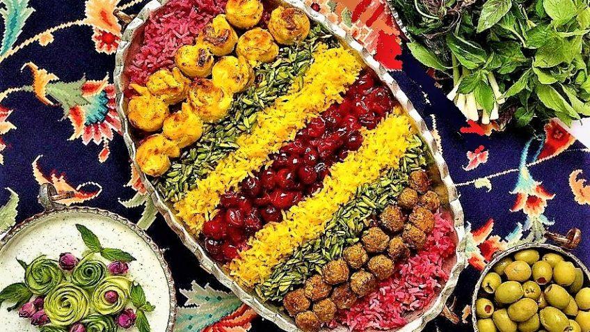 آلبالو پلو ایران غذالند سرزمین غذا