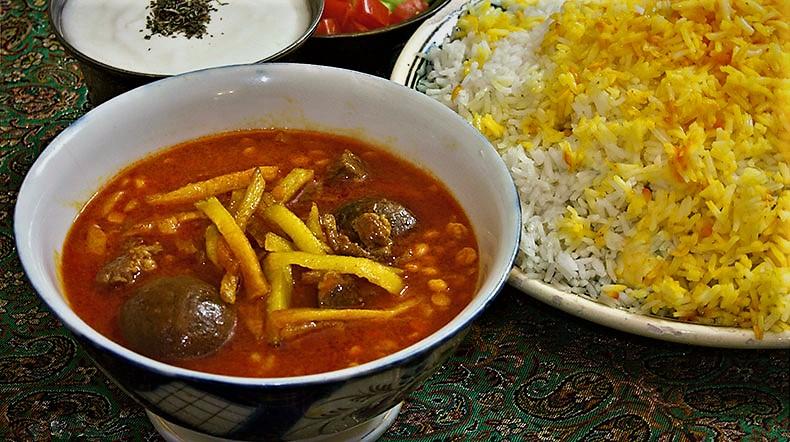 خورش قیمه ایران غذالند سرزمین غذا