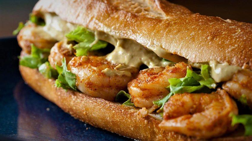 ساندویچ میگو ایران غذالند سرزمین غذا