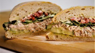 ساندویچ تن ماهی امریکا غذالند سرزمین غذا