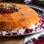 ته دیگ زعفرانی و ماست ایران غذالند سرزمین غذا