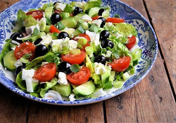 سالاد ترکی ترکیه غذالند سرزمین غذا