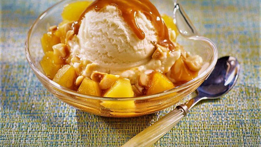 بستنی آناناس ایران غذالند سرزمین غذا