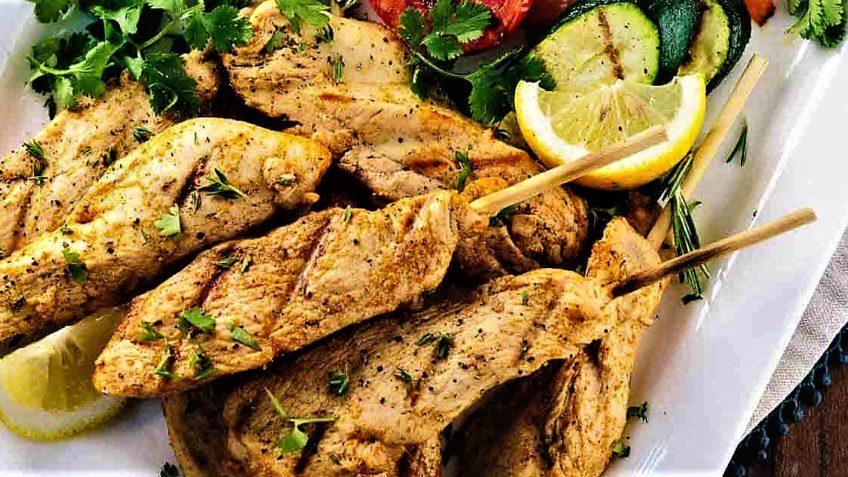 کباب مرغ یونانی یونان غذالند سرزمین غذا