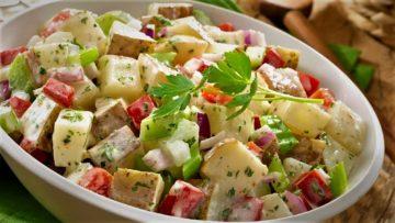سالاد سیب زمینی ایتالیایی غذالند سرزمین غذا