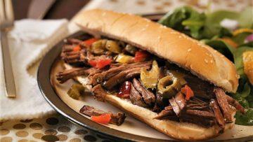 ساندویچ گوشت ایتالیایی غذالند ایتالیا سرزمین غذا