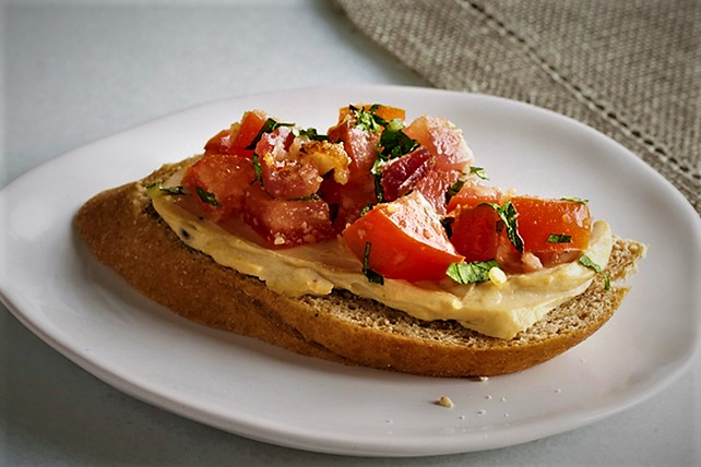 بروسکت گوجه فرنگی ایتالیا غذالند سرزمین غذا