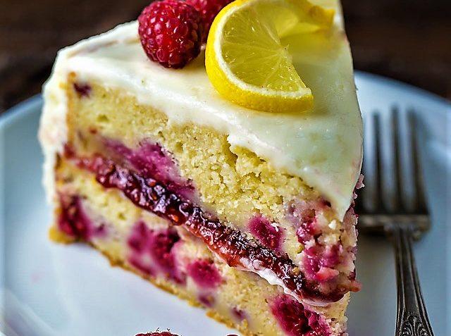 کیک تمشک اروپا غذالند سرزمین غذا