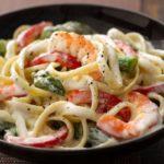 فتوچینی و میگو - غذالند - آشپزی ایتالیایی