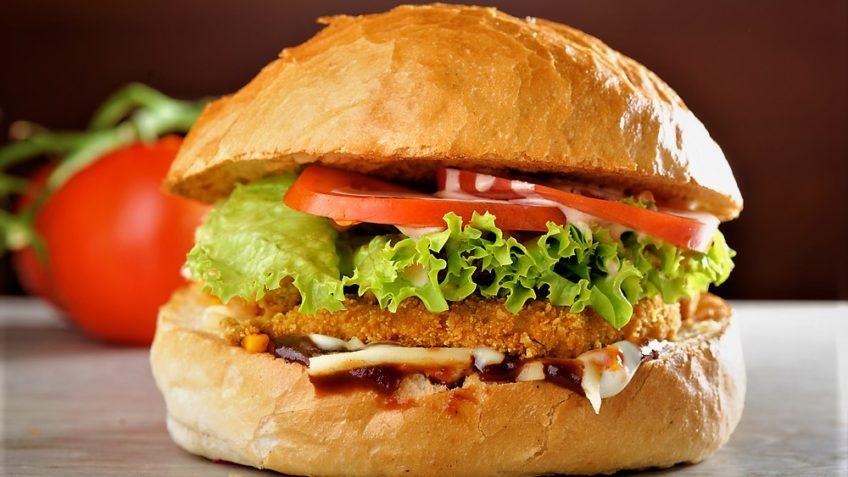 مینی برگر مرغ اروپا غذالند سرزمین غذا