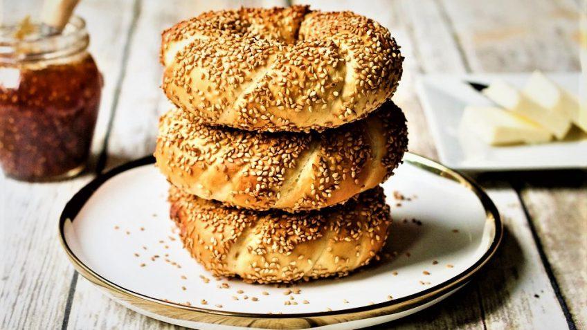نان سیمیت ترکیه غذالند سرزمین غذا