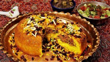 ته چین شیرازی فارس غذالند سرزمین غذا