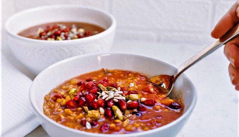 سوپ انار ایران غذالند سرزمین غذا