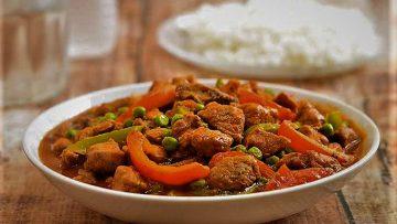 خوراک گوشت و نخودفرنگی هندوستان غذالند سرزمین غذا