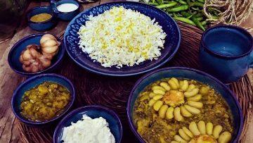 خوراک شوید باقالی گیلان خشکاویج غذالند سرزمین غذا