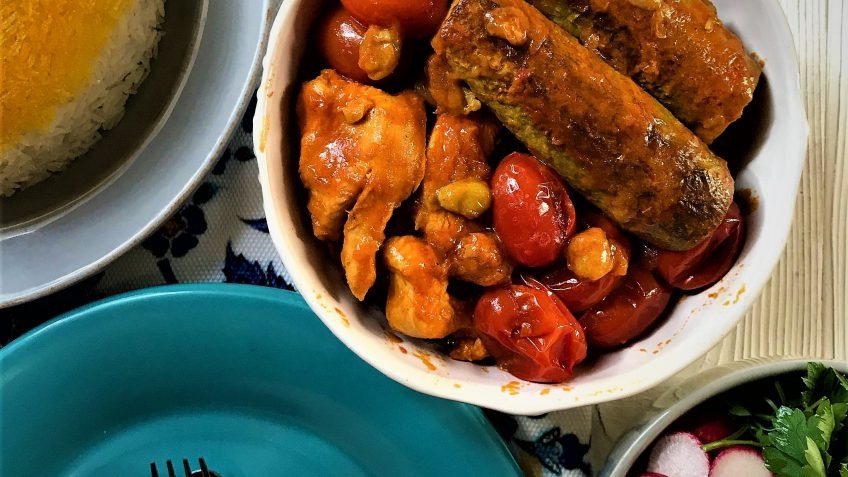 خورش کدو با مرغ غذالند سرزمین غذا ایران