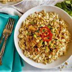 پلو پیازچه با مرغ ایران غذالند سرزمین غذا