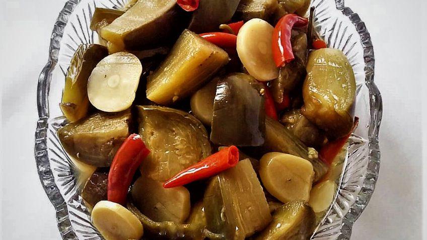 ترشی بادمجان ایران غذالند سرزمین غذا