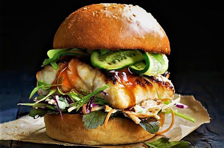 برگر ماهی امریکا غذالند سرزمین غذا