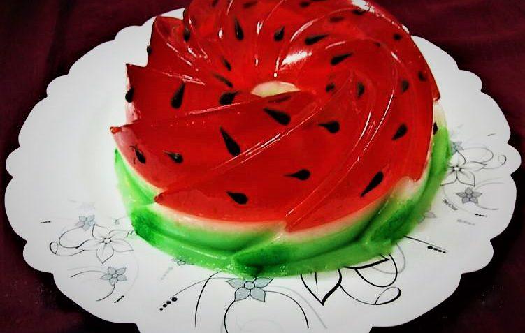 ژله هندوانه ایران غذالند سرزمین غذا