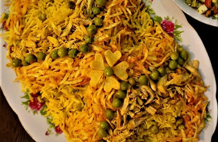 کاری پلو شیراز غذالند سرزمین غذا