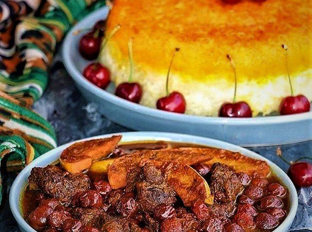 خورش آلبالو با گوشت ایران غذالند سرزمین غذا