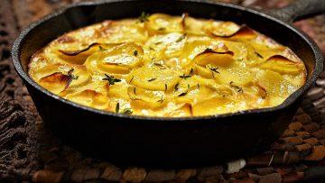 گراتن سوسیس و سیب زمینی اروپا غذالند سرزمین غذا
